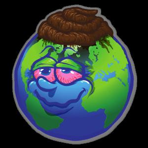 Earth we love sticker