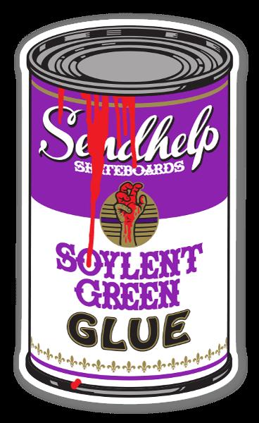 SILENT GREEN GLUE  sticker