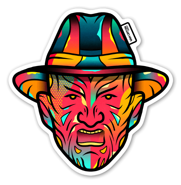 Freddy krueger stickers