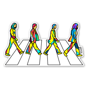 abbey road stickers