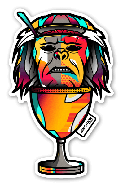 Monkey brains stickers