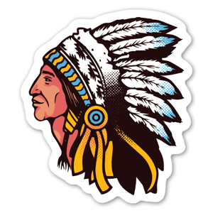 Indiaan sticker