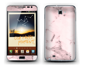 Pink marble  Skin Galaxy Note