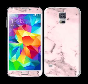 Lys rosa marmor Skin Galaxy S5