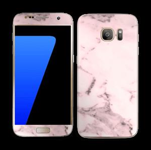 Lys rosa marmor Skin Galaxy S7