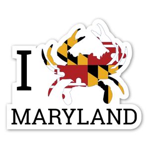 I Crab Maryland sticker