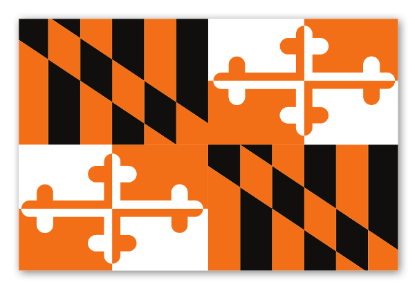 Orioles maryland flag sticker