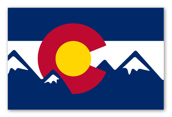 Colorado mountain flag sticker