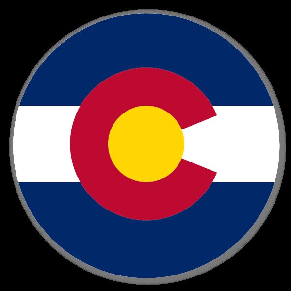 Colorado Circle Flag sticker