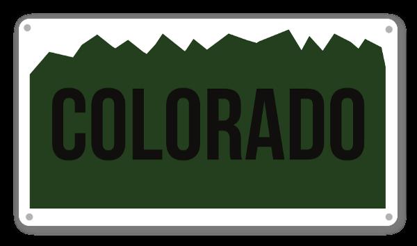 Colorado Plate sticker