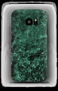 Grønn marmor deksel Galaxy S7 Edge