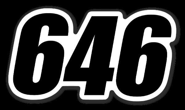 Racingnummer 646  sticker