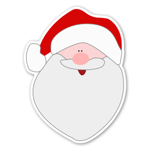 Père noël sticker