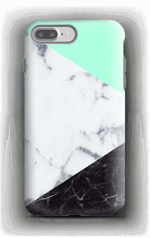 Marmor og Pastell deksel IPhone 7 Plus tough