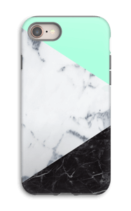 Mint Marmer  hoesje IPhone 8 tough