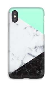 Mint Marmer  hoesje IPhone X