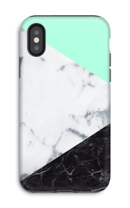 Mint Marmer  hoesje IPhone X tough