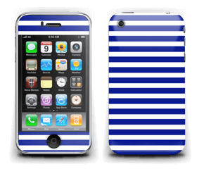 White and navy stripes for all the sailors and captains out there
