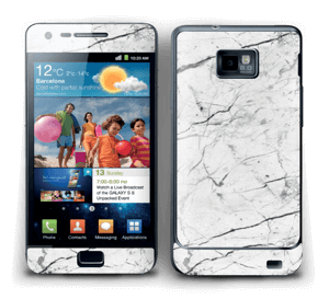 White marble skin for your Galaxy S2, make it custom by adding your name or logo