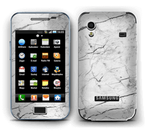 White marble skin for your Galaxy Ace, make it custom by adding your name or logo