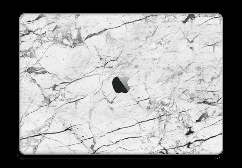 Hvit klassisk marmor Skin MacBook Pro Touch Bar 15