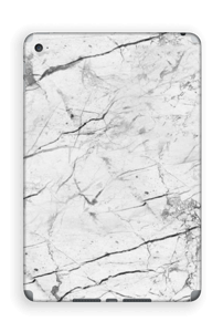 White marble skin for your IPad Mini 4, make it custom by adding your name or logo