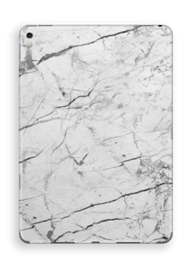 White marble skin for your IPad Pro 9.7, make it custom by adding your name or logo