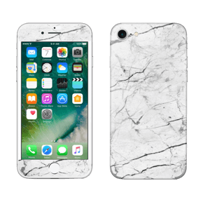 White marble skin for your IPhone 7, make it custom by adding your name or logo