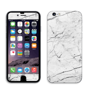 White marble skin for your IPhone 6/6s, make it custom by adding your name or logo