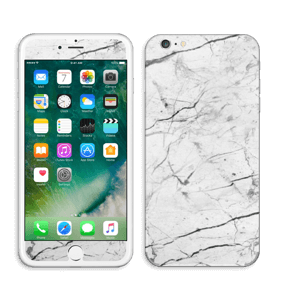 White marble skin for your IPhone 6 Plus, make it custom by adding your name or logo