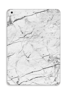 White marble skin for your IPad Air, make it custom by adding your name or logo