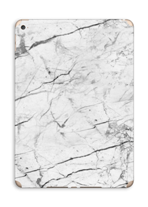 White marble skin for your IPad Air 2, make it custom by adding your name or logo