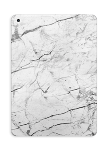 White marble skin for your IPad 2017, make it custom by adding your name or logo