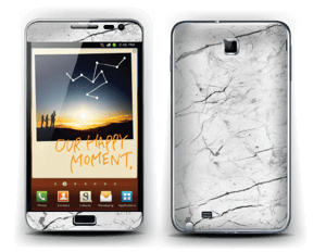 White marble skin for your Galaxy Note, make it custom by adding your name or logo