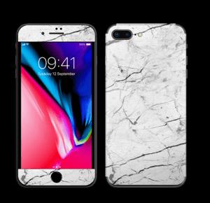 Hvit klassisk marmor Skin IPhone 8 Plus