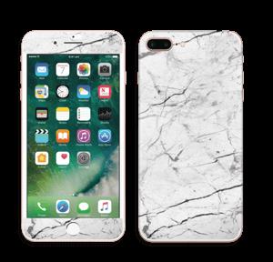 Hvit klassisk marmor Skin IPhone 7 Plus