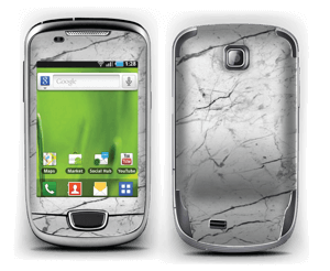 White marble skin for your Galaxy Mini, make it custom by adding your name or logo