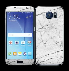 Hvit klassisk marmor Skin Galaxy S6
