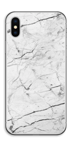White marble skin for your IPhone X, make it custom by adding your name or logo