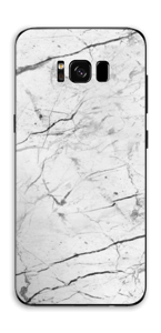 White marble skin for your Galaxy S8 Plus, make it custom by adding your name or logo
