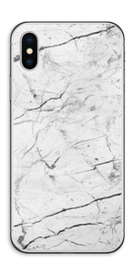 White marble skin for your IPhone XS, make it custom by adding your name or logo