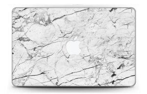 "White marble skin for your MacBook Air 11"", make it custom by adding your name or logo"