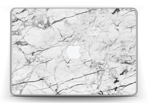 """White marble skin for your MacBook Pro 13"""" -2015, make it custom by adding your name or logo"""