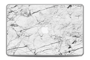 """White marble skin for your MacBook Pro 17"""" -2015, make it custom by adding your name or logo"""