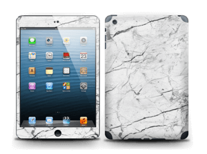 White marble skin for your IPad mini 2, make it custom by adding your name or logo