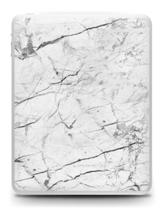 White marble skin for your IPad 1, make it custom by adding your name or logo