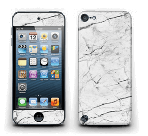 White marble skin for your IPod Touch 5th Gen, make it custom by adding your name or logo