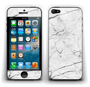 White marble skin for your IPhone 5, make it custom by adding your name or logo