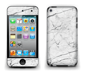 White marble skin for your IPod Touch 4th Gen, make it custom by adding your name or logo