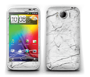 White marble skin for your Sensation XL, make it custom by adding your name or logo